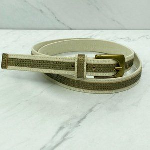 Banana Republic Accessories - Banana Republic Leather and Cotton Skinny Belt